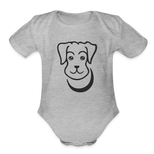 puppy - Organic Short Sleeve Baby Bodysuit