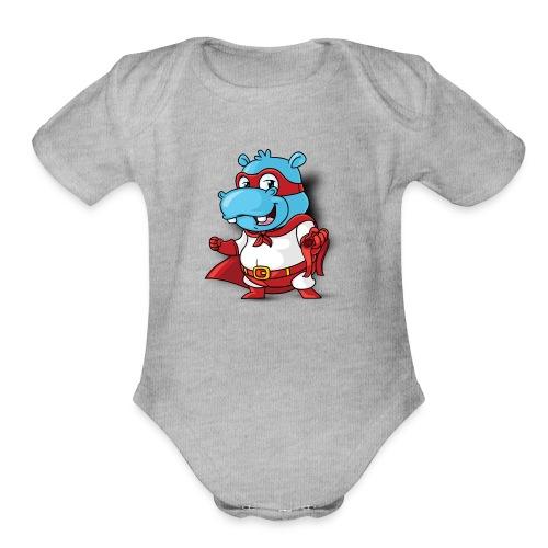 HippoPlays Official Merch - Organic Short Sleeve Baby Bodysuit