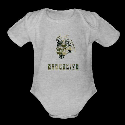camo_exec - Organic Short Sleeve Baby Bodysuit