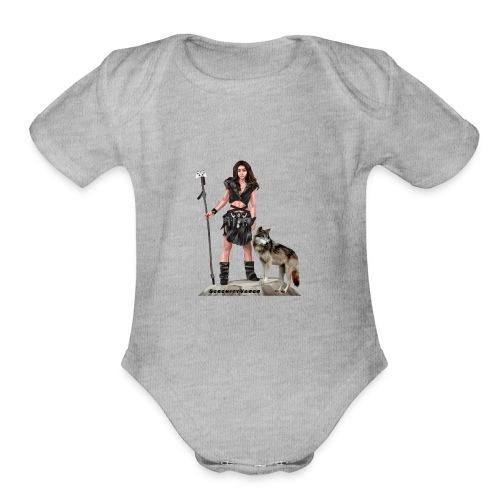 main stream logo - Organic Short Sleeve Baby Bodysuit