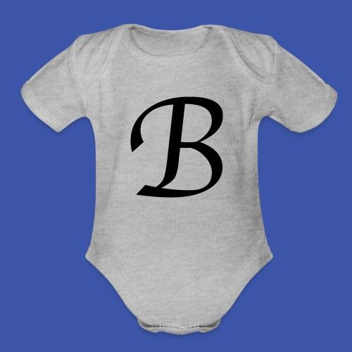 B - Organic Short Sleeve Baby Bodysuit