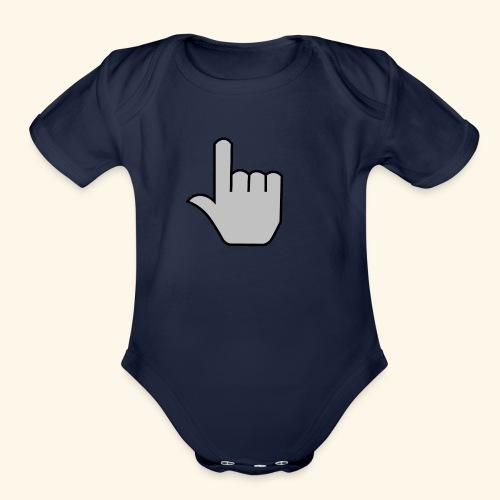 click - Organic Short Sleeve Baby Bodysuit