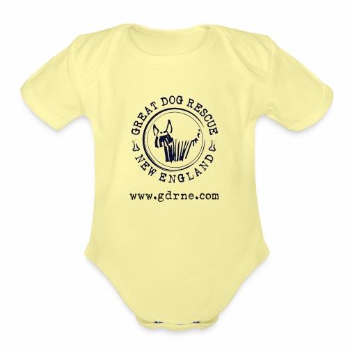 GDRNE Logo - Organic Short Sleeve Baby Bodysuit