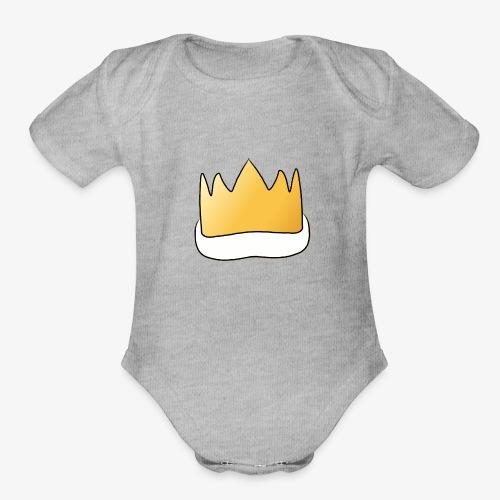Royalty - Organic Short Sleeve Baby Bodysuit