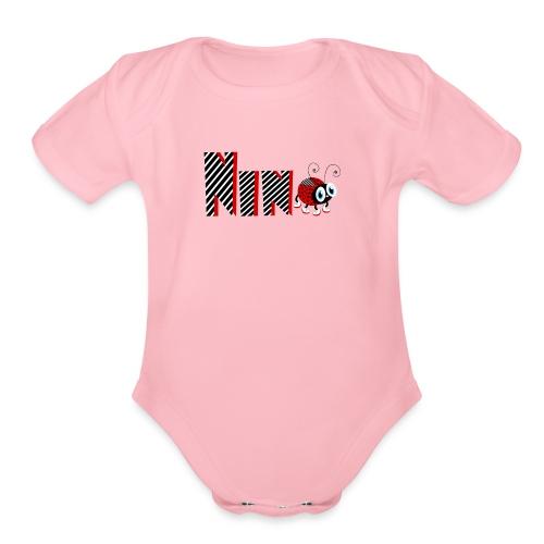 9nd Year Family Ladybug T-Shirts Gifts Daughter - Organic Short Sleeve Baby Bodysuit