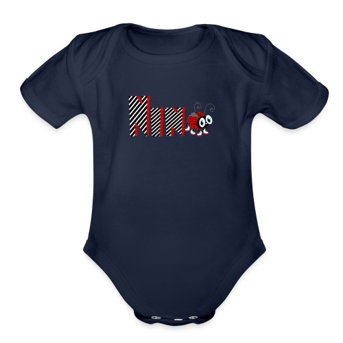 9nd Year Family Ladybug T-Shirts Gifts Daughter - Organic Short Sleeve Baby Bodysuit