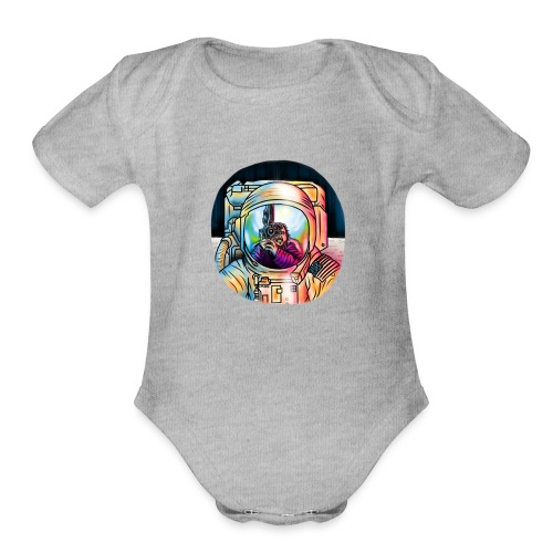 THE MOONING - Organic Short Sleeve Baby Bodysuit