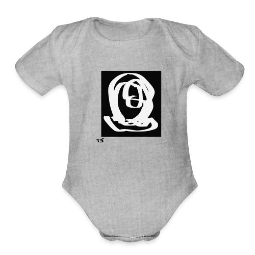 The head - Organic Short Sleeve Baby Bodysuit