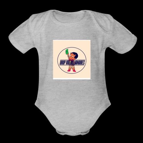 DROP OUT BILLIONAIRES ATTIRE - Organic Short Sleeve Baby Bodysuit