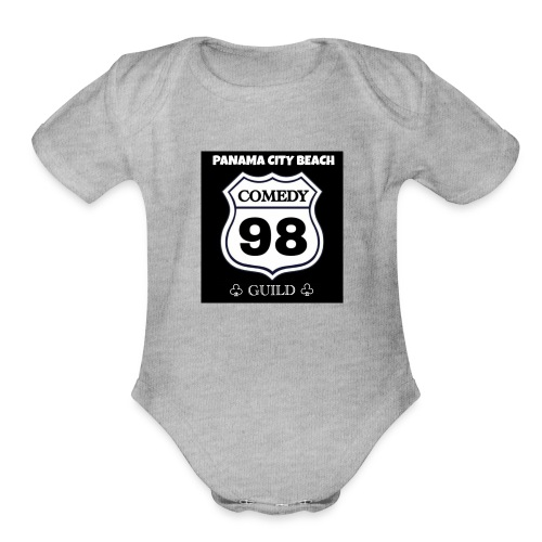 Black98comedy - Organic Short Sleeve Baby Bodysuit