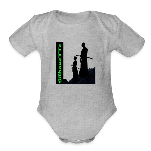 Silhouette Father and son Samurai - Organic Short Sleeve Baby Bodysuit