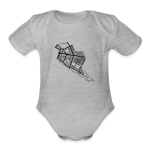 Friedrichshain Berlin - Organic Short Sleeve Baby Bodysuit