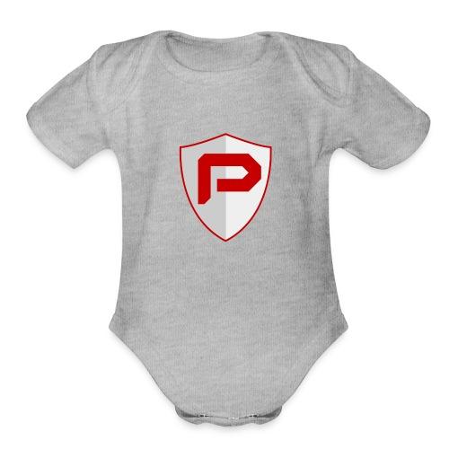 PancakeTekkit Logo - Organic Short Sleeve Baby Bodysuit