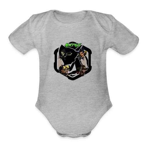 Acidtheinsane's Overwatch Mains - Organic Short Sleeve Baby Bodysuit