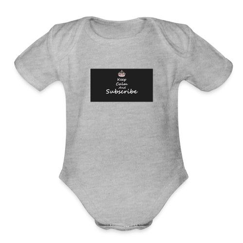 Keep Calm Merch - Organic Short Sleeve Baby Bodysuit