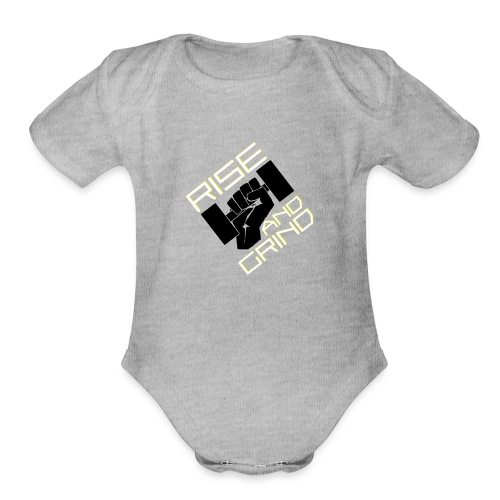 RISE AND GRIND - Organic Short Sleeve Baby Bodysuit