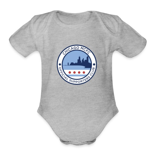 Chicago MCFC Badge Collection - Organic Short Sleeve Baby Bodysuit