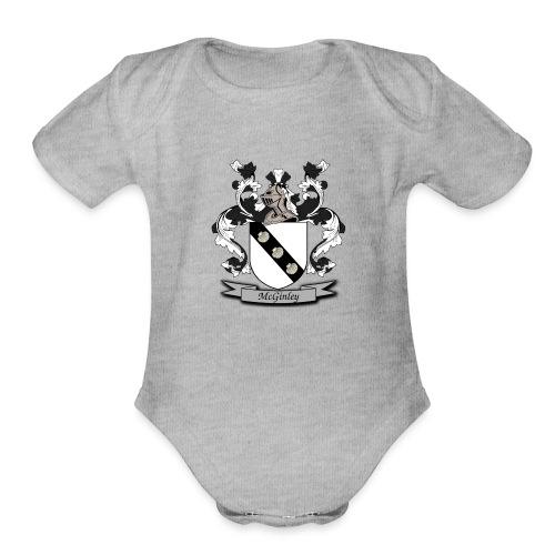 McGinley Family Crest - Organic Short Sleeve Baby Bodysuit