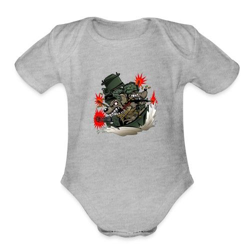 River Rats - Organic Short Sleeve Baby Bodysuit