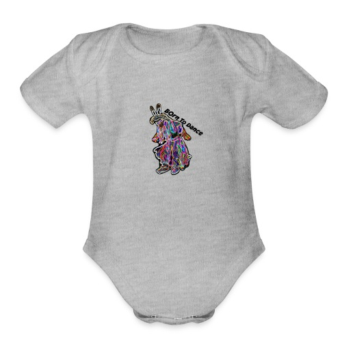 Born To Dance - Organic Short Sleeve Baby Bodysuit