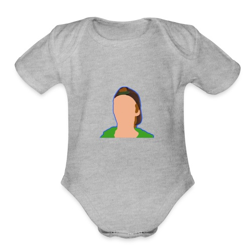 iCanE Cartoon - Organic Short Sleeve Baby Bodysuit