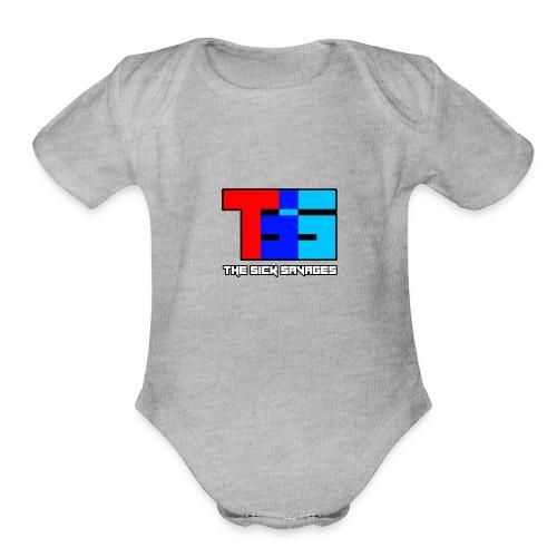 TSS Logo - Organic Short Sleeve Baby Bodysuit