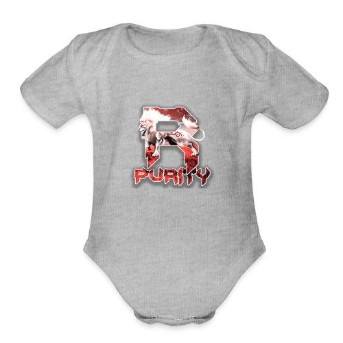 Rose_Purity - Organic Short Sleeve Baby Bodysuit