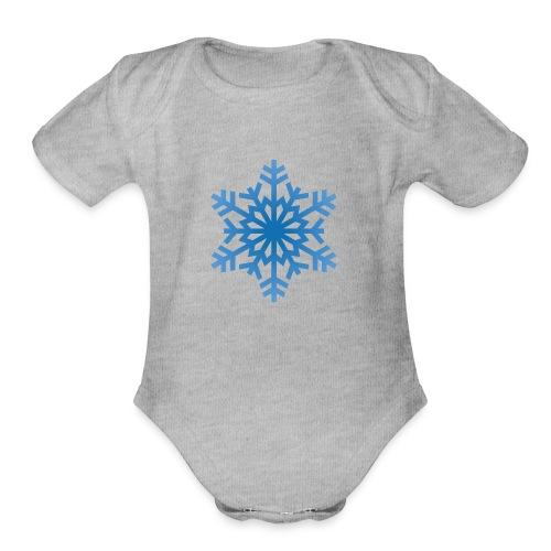 http-images-clipartpanda-com-snowflake-clipart-tra - Organic Short Sleeve Baby Bodysuit