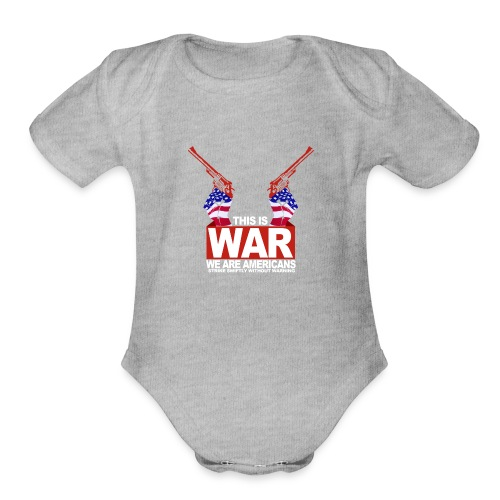 War USA - Organic Short Sleeve Baby Bodysuit