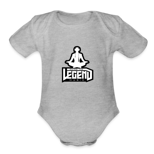 Enter The Legend Music B/W - Organic Short Sleeve Baby Bodysuit