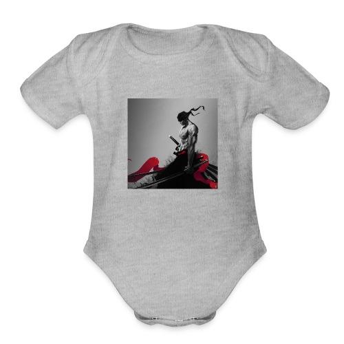 ninja - Organic Short Sleeve Baby Bodysuit