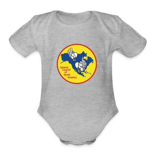SCNA logo - Organic Short Sleeve Baby Bodysuit
