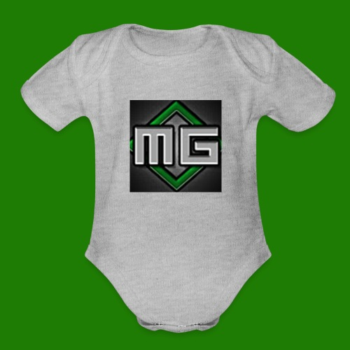 MrGreenGaming Logo Phone Cases - Organic Short Sleeve Baby Bodysuit