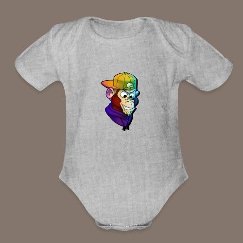 Stijmunkey Logo - Organic Short Sleeve Baby Bodysuit