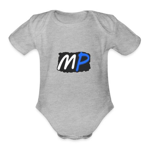 MishoPlays Classic Logo - Organic Short Sleeve Baby Bodysuit