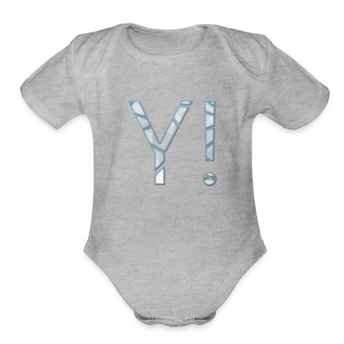 Yenkij - logo - Organic Short Sleeve Baby Bodysuit