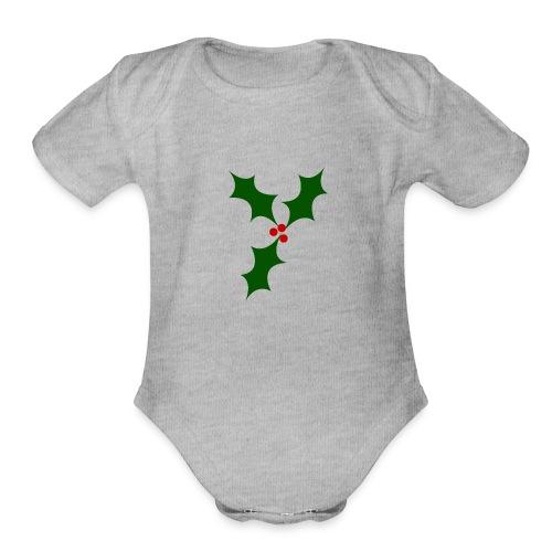 Holly - Organic Short Sleeve Baby Bodysuit