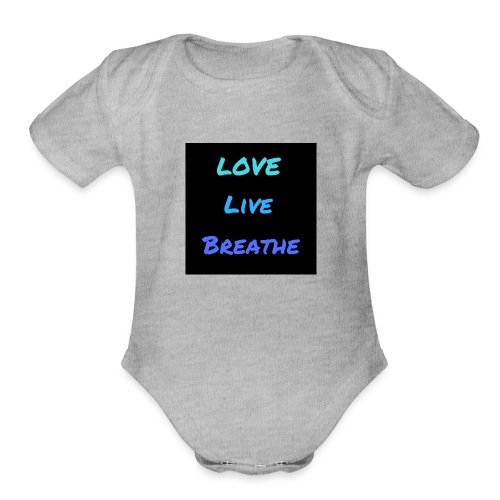 The Day Shift Academy Blue LLB Design - Organic Short Sleeve Baby Bodysuit