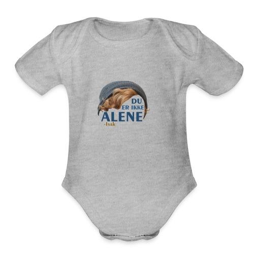 Du er ikke alene (Skam) - Organic Short Sleeve Baby Bodysuit