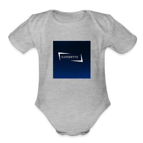 xAnderYTx logo - Organic Short Sleeve Baby Bodysuit