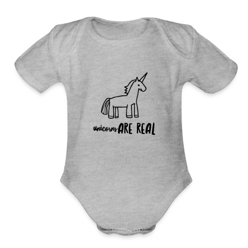 Unicorns Are Real - Organic Short Sleeve Baby Bodysuit