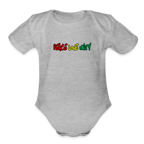 Peace Love Unity - Organic Short Sleeve Baby Bodysuit