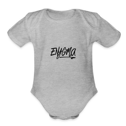 Enygma Black Original - Organic Short Sleeve Baby Bodysuit