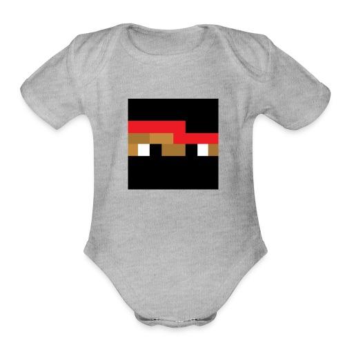 Neenja Face - Organic Short Sleeve Baby Bodysuit