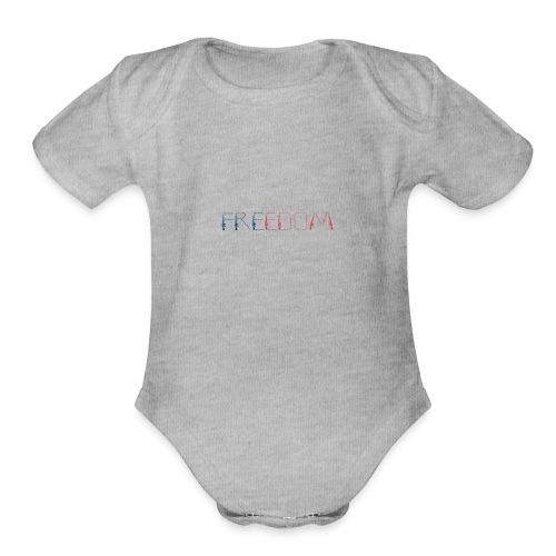 Freedom - Organic Short Sleeve Baby Bodysuit