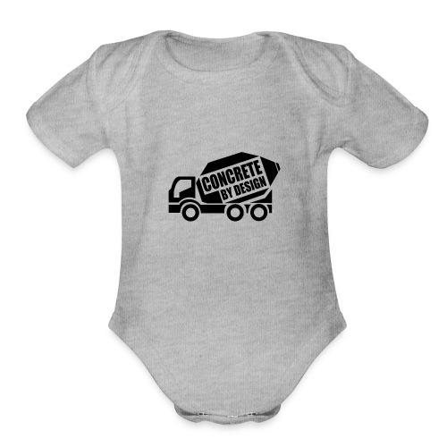 ConcretebyDesign - Organic Short Sleeve Baby Bodysuit