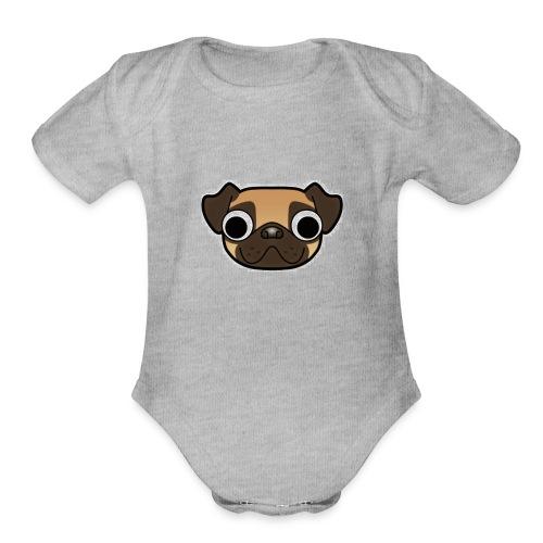Youtube Logo Mug - Organic Short Sleeve Baby Bodysuit