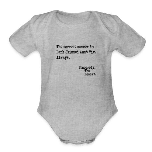 Aunt Viv - Organic Short Sleeve Baby Bodysuit
