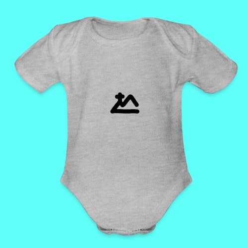 Meta Catholics plain - Organic Short Sleeve Baby Bodysuit