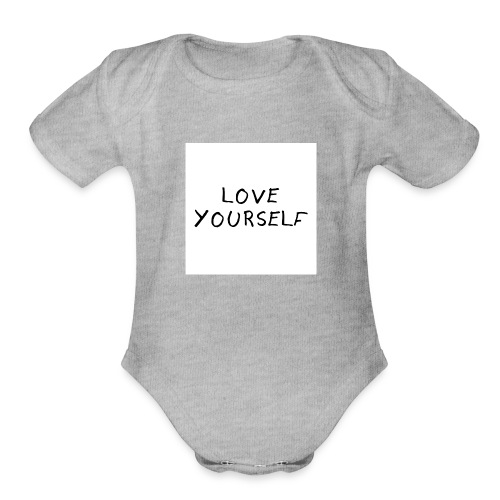 loveyourself - Organic Short Sleeve Baby Bodysuit